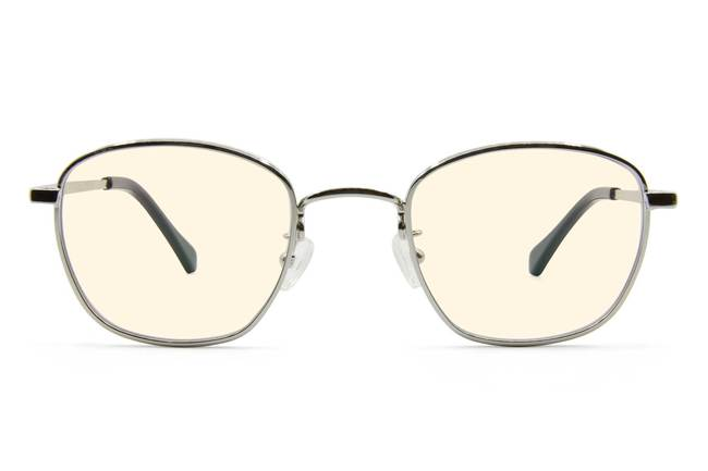 Haro sleepglasses in silver viewed from front