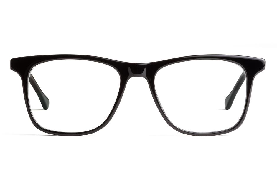 Jemison eyeglasses in black viewed from front