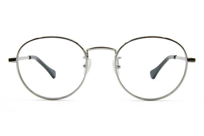 Hamilton eyeglasses in silver viewed from front