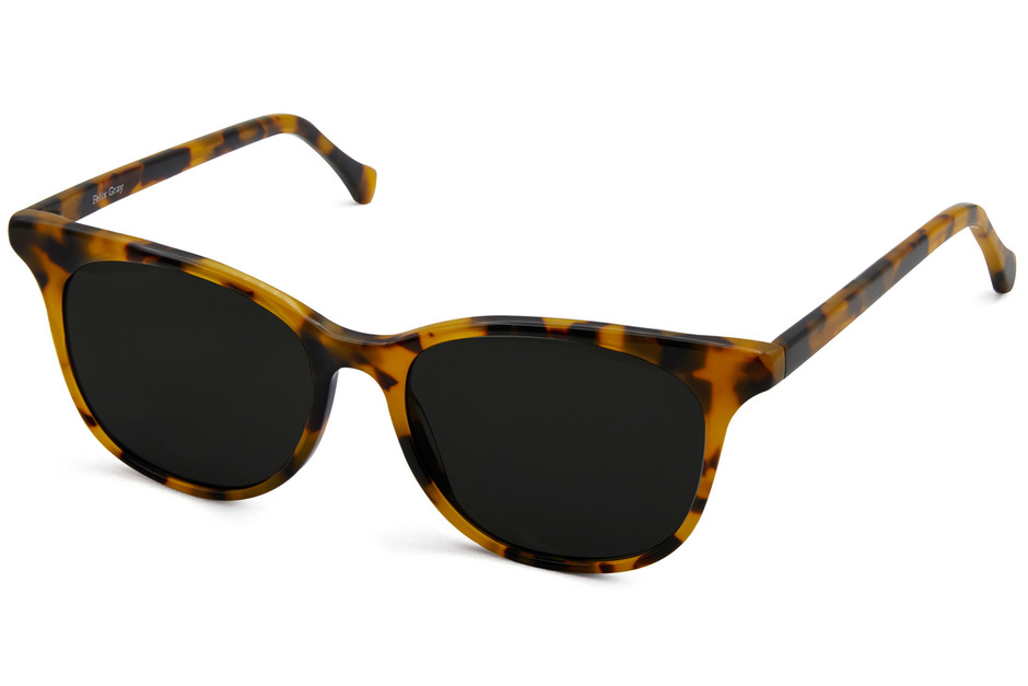 Lovelace sunglasses in serengeti viewed from angle
