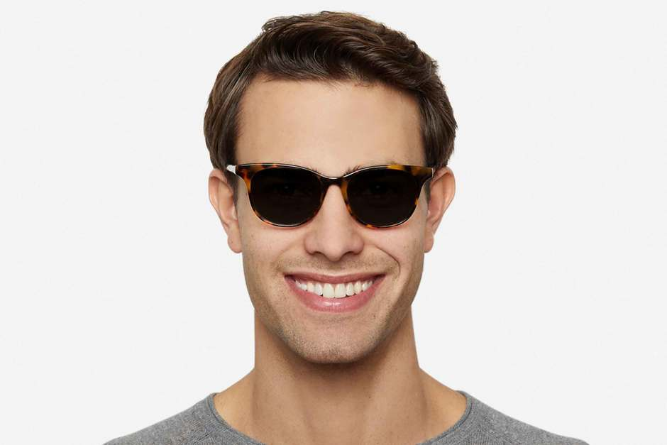 Lovelace sunglasses in serengeti on male model viewed from front
