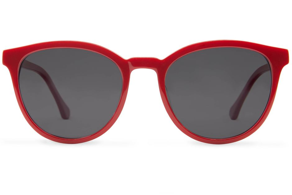 Roman sunglasses in candy apple viewed from front