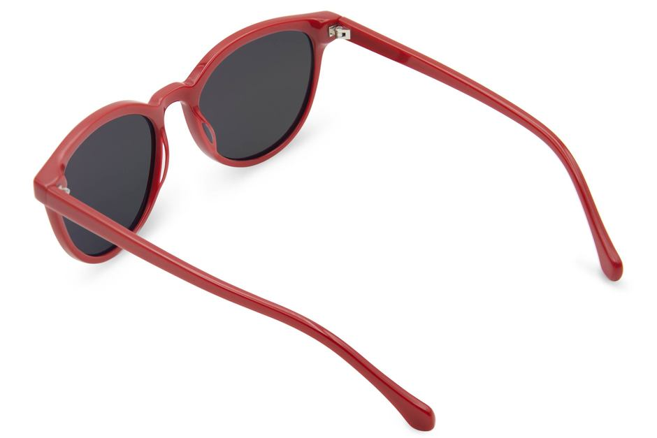 Roman sunglasses in candy apple viewed from rear