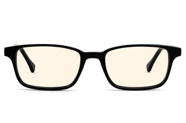 Carver LBF sleepglasses in black viewed from front