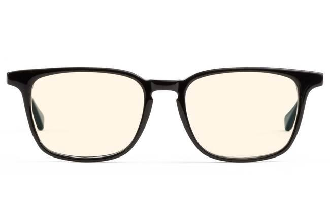 Nash LBF sleepglasses in black viewed from front