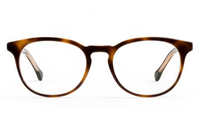 Roebling LBF eyeglasses in sazerac crystal viewed from front