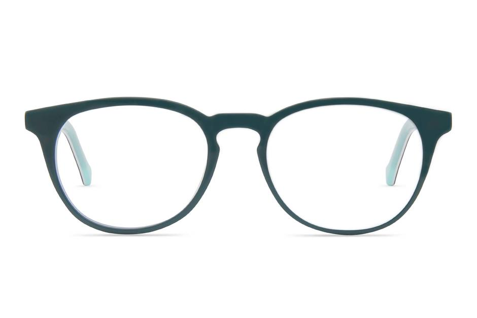 Roebling K2 eyeglasses in spearmint viewed from front