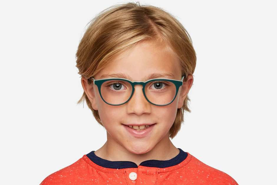 Roebling K2 eyeglasses in spearmint on male model viewed from front