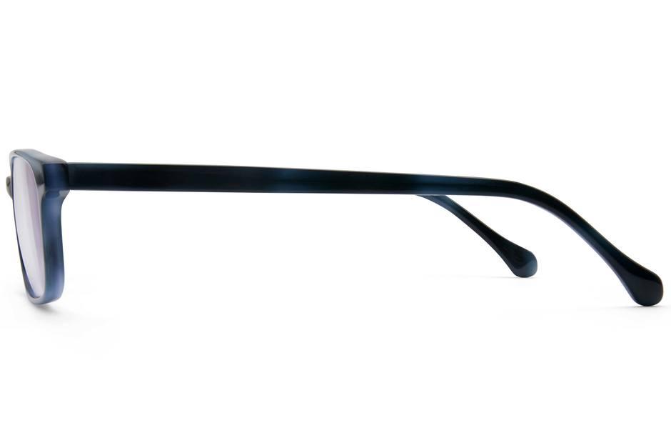 Carver eyeglasses in midnight surf viewed from side