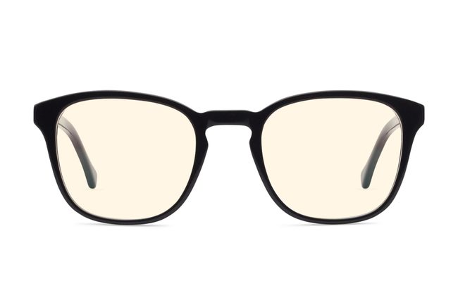 Tole sleepglasses in black viewed from front