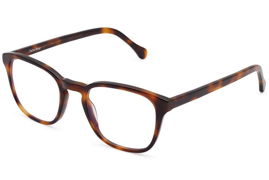 Tole eyeglasses in sazerac viewed from angle