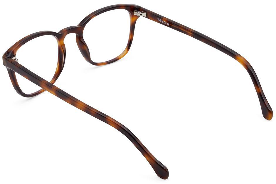 Tole eyeglasses in sazerac viewed from rear