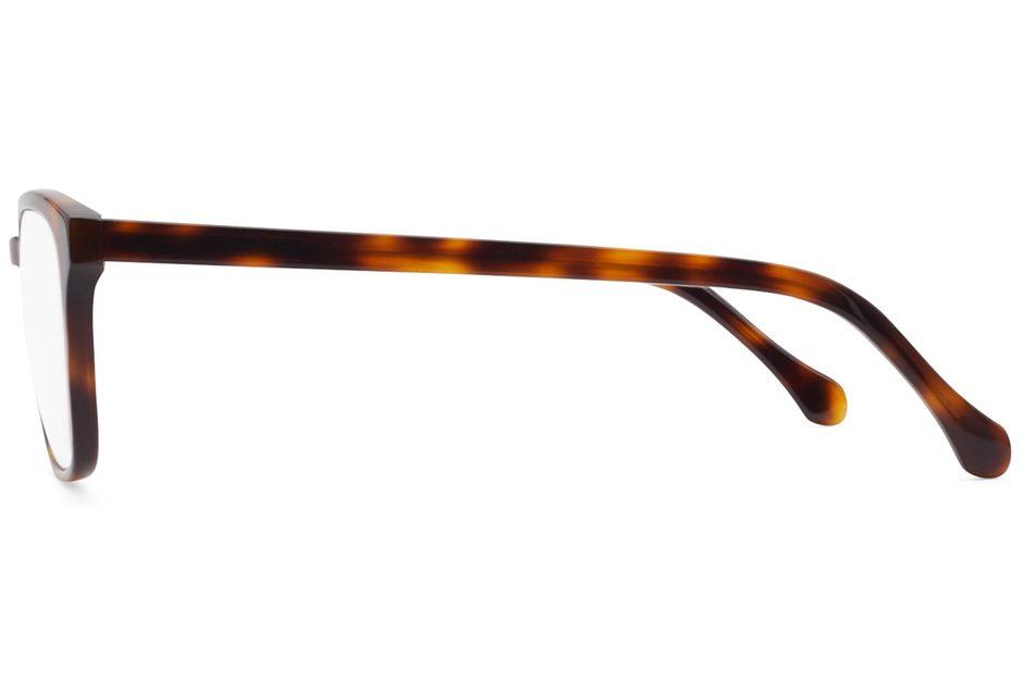 Tole eyeglasses in sazerac viewed from side