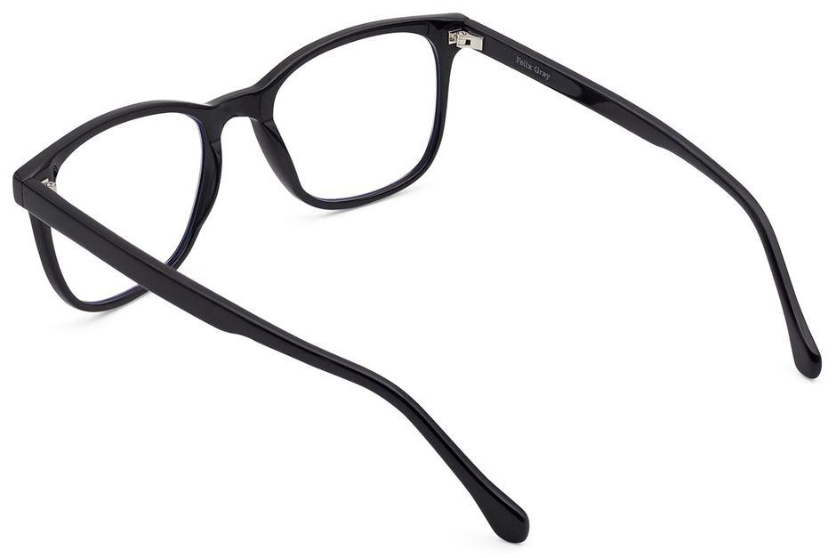 Volta eyeglasses in black viewed from rear