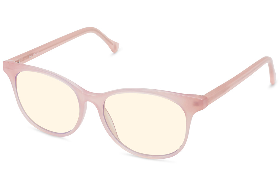 Lovelace sleepglasses in rose mallow viewed from angle