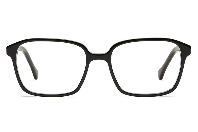 West eyeglasses in black viewed from front