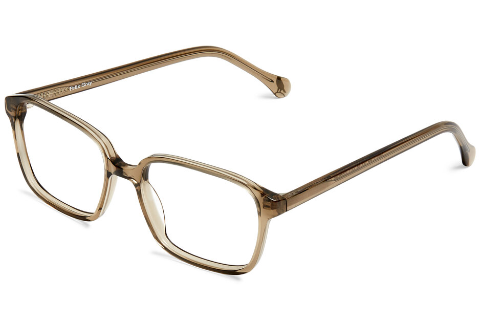 West eyeglasses in smoke viewed from angle