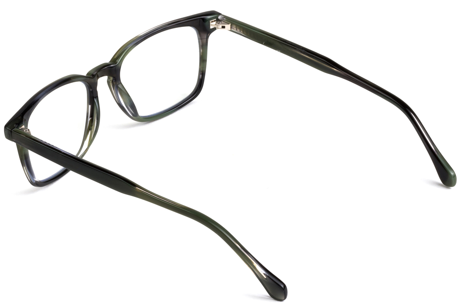 Nash eyeglasses in artichoke viewed from angle