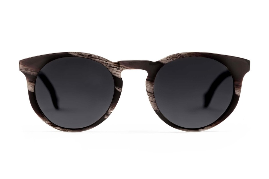 Turing sunglasses in horn viewed from front