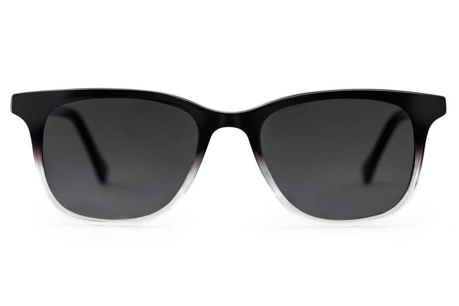 Hopper sunglasses in manhattan fade viewed from front