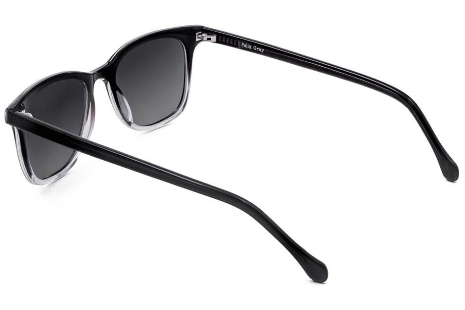 Hopper sunglasses in manhattan fade viewed from rear