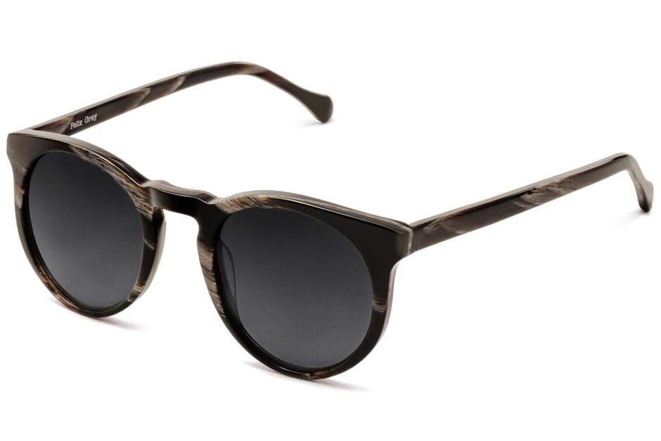 Turing sunglasses in horn viewed from angle