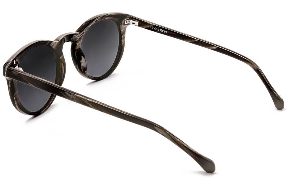 Turing sunglasses in horn viewed from rear