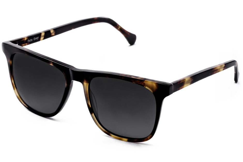 Jemison sunglasses in whiskey tortoise viewed from angle