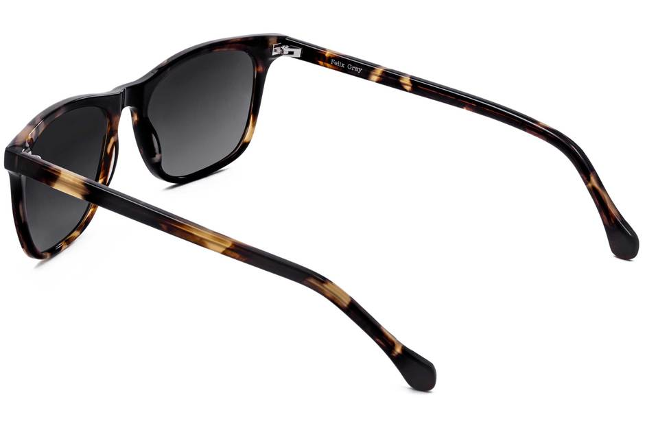 Jemison sunglasses in whiskey tortoise viewed from rear