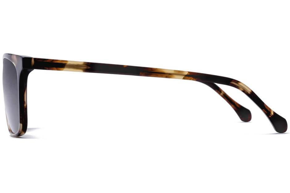 Jemison sunglasses in whiskey tortoise viewed from side