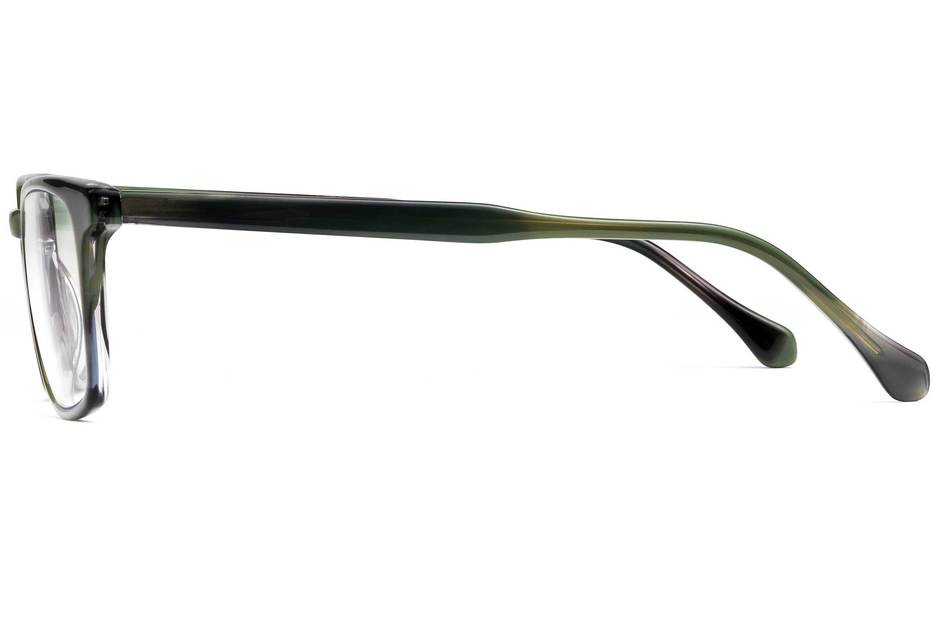 Nash eyeglasses in artichoke viewed from side