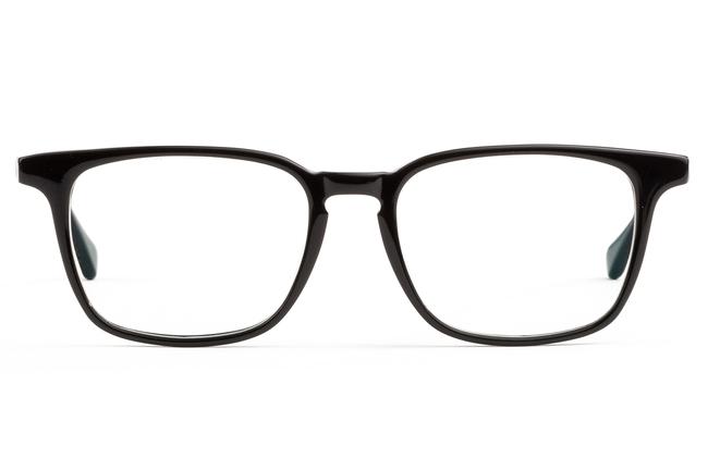 Nash eyeglasses in black viewed from front