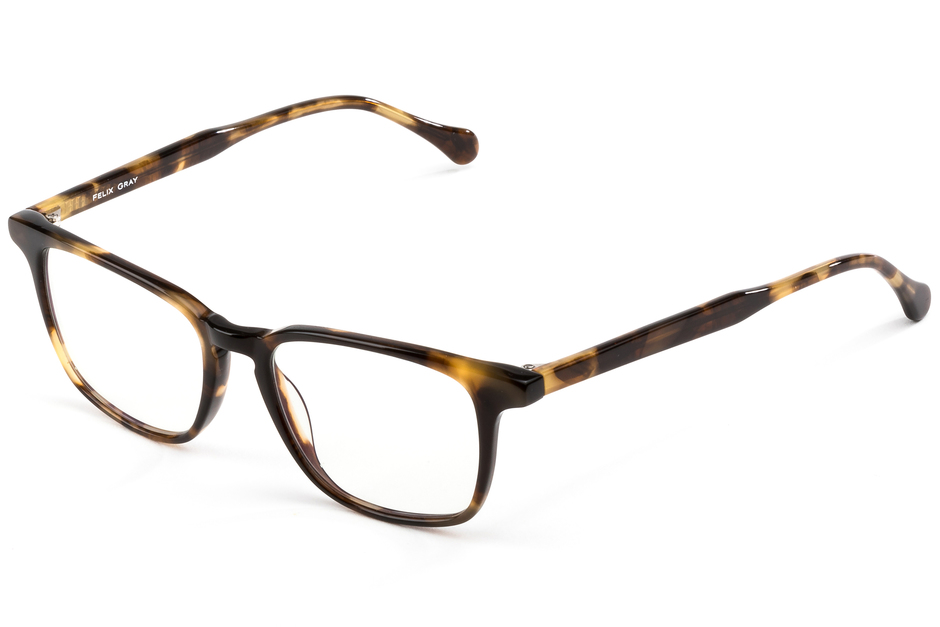 Nash eyeglasses in whiskey tortoise viewed from front