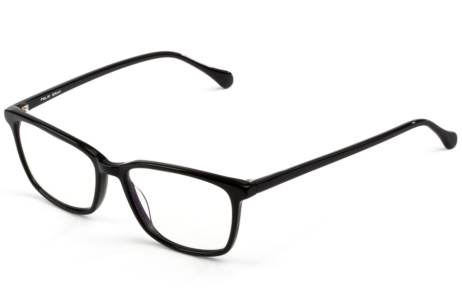 Faraday eyeglasses in black viewed from front