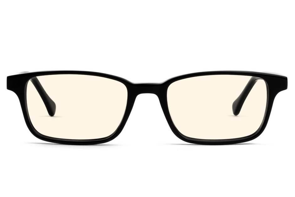 Carver sleepglasses in black viewed from front