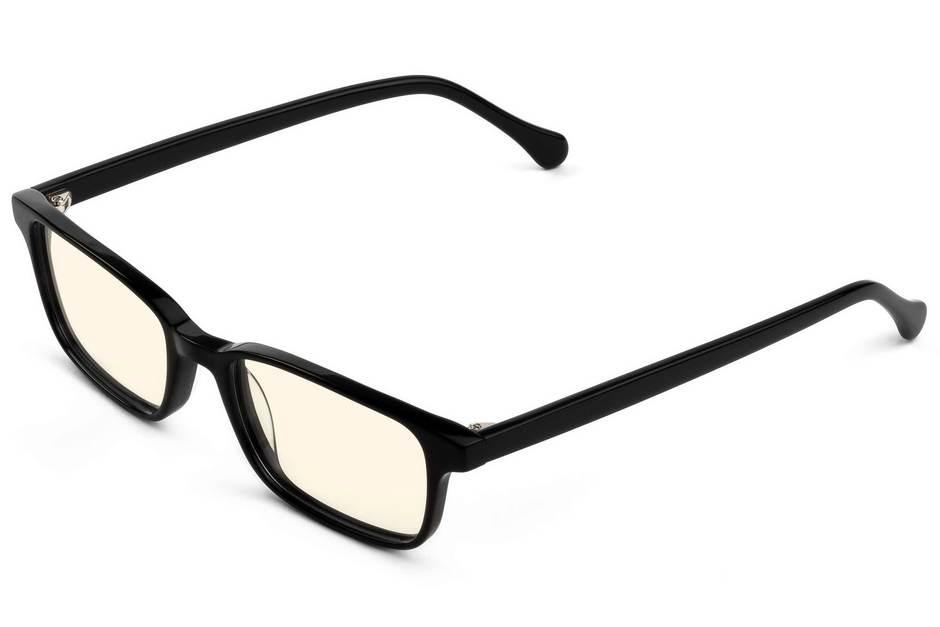 Carver sleepglasses in black viewed from angle