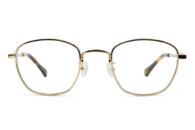 Haro eyeglasses in gold viewed from front